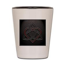 Celtic Knotwork Leather Valentine Heart Shot Glass