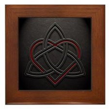 Celtic Knotwork Leather Valentine Hear Framed Tile