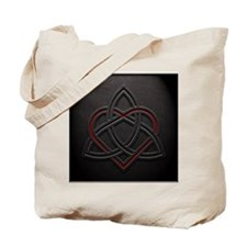 Celtic Knotwork Leather Valentine Heart Tote Bag