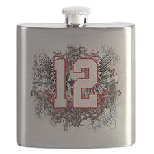 Tom Brady Grunge Skull Flask