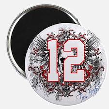 Tom Brady Grunge Skull Magnet