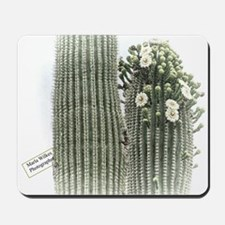 saguaro flowers Mousepad