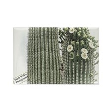 saguaro flowers Rectangle Magnet