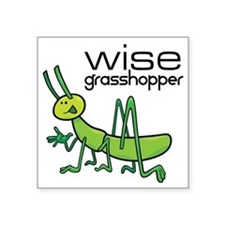 "grasshopper Square Sticker 3"" x 3"""
