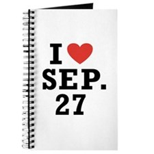 I Heart September 27 Journal