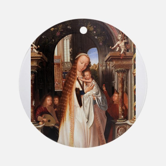Virgin with child, surrounded by angels - Quinten