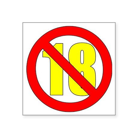 "18-white Square Sticker 3"" x 3"""