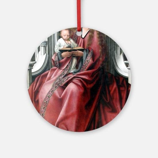 Virgin with Child - Quinten Massys - c 1520 Round