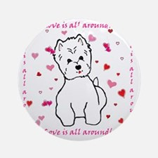 Love is back2 copy Round Ornament