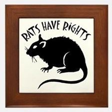 RatsHaveRights Framed Tile