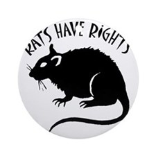 RatsHaveRights Round Ornament