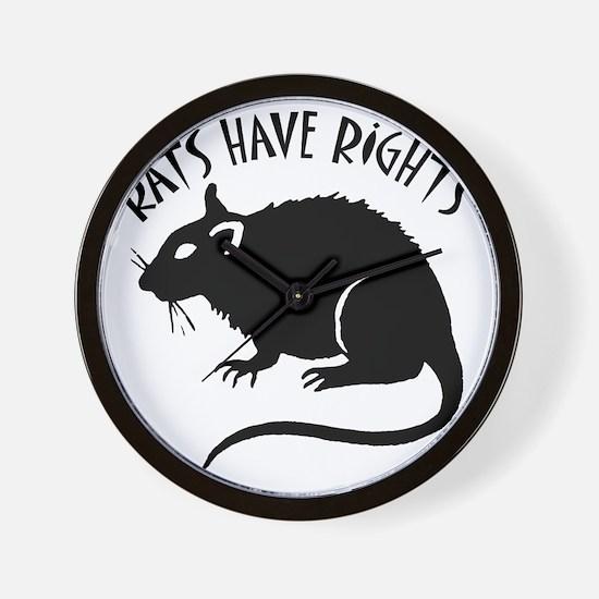 RatsHaveRights Wall Clock