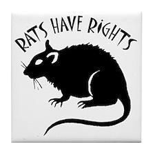 RatsHaveRights Tile Coaster