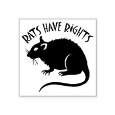 "RatsHaveRights Square Sticker 3"" x 3"""