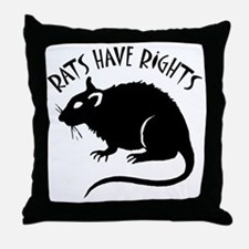 RatsHaveRights Throw Pillow