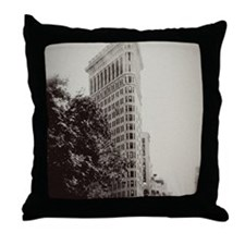 Vintage Flatiron Throw Pillow