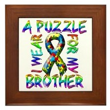 I Wear A Puzzle for my Brother Framed Tile