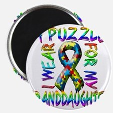 I Wear A Puzzle for my Granddaughter Magnet