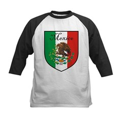 Mexican Flag / Mexico Crest Kids Baseball Jersey