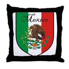 Mexican Flag / Mexico Crest Throw Pillow