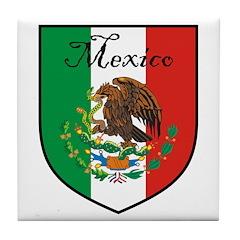 Mexican Flag / Mexico Crest Tile Coaster