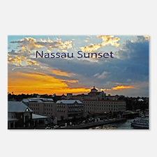 sunset Nassau5.5x3.5 Postcards (Package of 8)