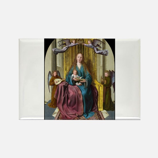 The Virgin and Child Enthroned, with Four Angels -