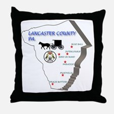Lancaster county PA Throw Pillow