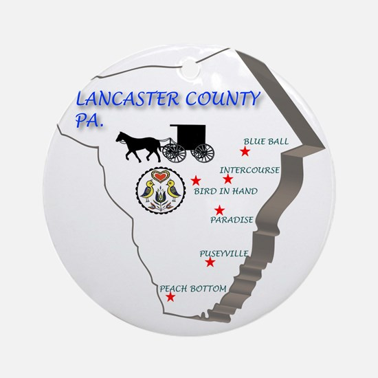 Lancaster county PA Round Ornament