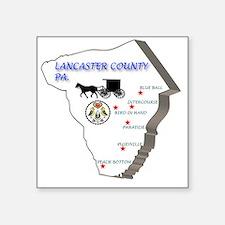 "Lancaster county PA Square Sticker 3"" x 3"""