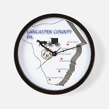 Lancaster county PA Wall Clock