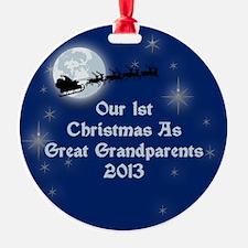 1St Christmas Great Grandparents 2013 Ornament