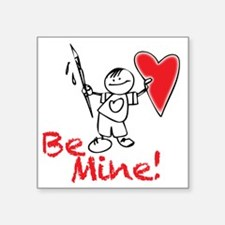 "Boy-holding-heart Square Sticker 3"" x 3"""