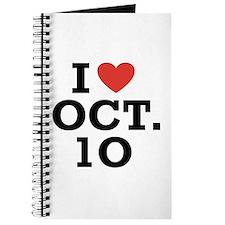 I Heart October 10 Journal