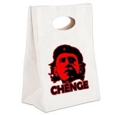 Che-Bama v4 Black On Red Canvas Lunch Tote