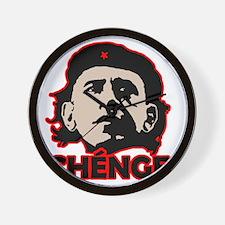 Che-Bama v4 Black Grey On Red Wall Clock