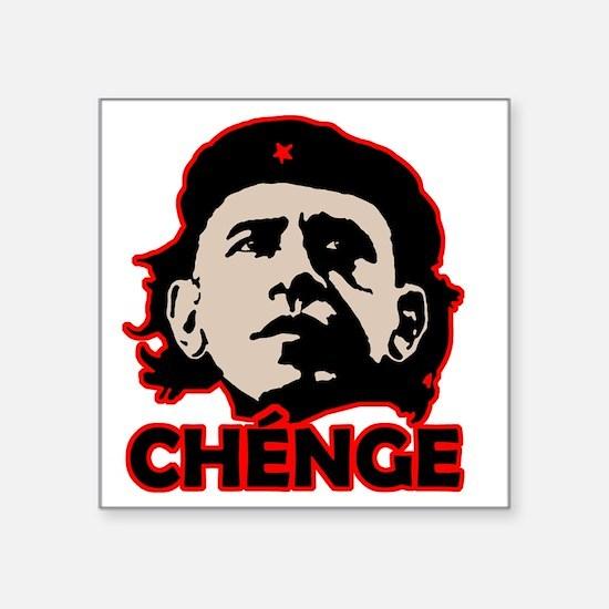 "Che-Bama v4 Black Grey On R Square Sticker 3"" x 3"""