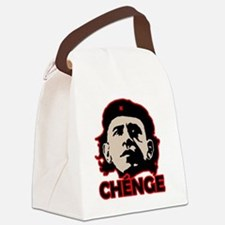 Che-Bama v4 Black Grey On Red Canvas Lunch Bag