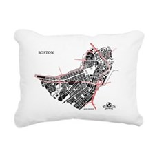 M-GY_BOS-MA_BK-RD_1 Rectangular Canvas Pillow