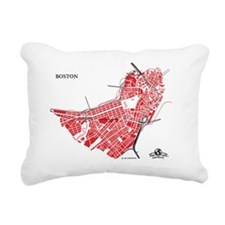 W-LTBL_BOS-MA_RD-BK_1 Rectangular Canvas Pillow