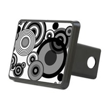 BW circles coin Hitch Cover