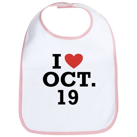 I Heart October 19 Bib
