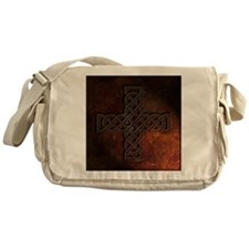 Celtic Knotwork Rust Cross Messenger Bag
