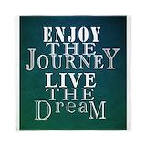 Enjoy the journey live the dream Duvet Covers