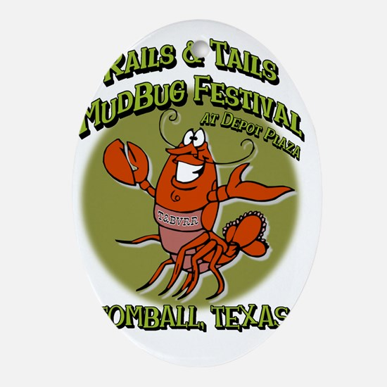 Crawfish festival -  Rails and Tails Oval Ornament