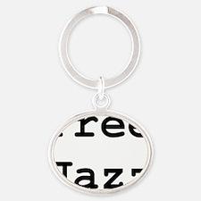 free-jazz Oval Keychain
