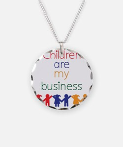 Children-are-my-business Necklace Circle Charm