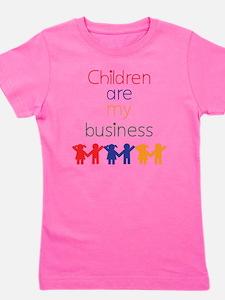 Children-are-my-business-bigger Girl's Tee