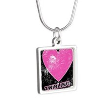 twirlrrr Silver Square Necklace