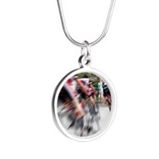 Lucky Number 13 Silver Round Necklace